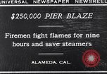 Image of pier blaze Alameda California USA, 1929, second 8 stock footage video 65675041387