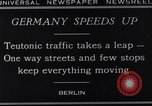 Image of One way streets Germany, 1929, second 10 stock footage video 65675041389