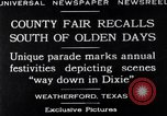 Image of County Fair Weatherford Texas USA, 1929, second 2 stock footage video 65675041391
