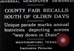 Image of County Fair Weatherford Texas USA, 1929, second 3 stock footage video 65675041391