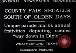 Image of County Fair Weatherford Texas USA, 1929, second 4 stock footage video 65675041391
