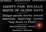 Image of County Fair Weatherford Texas USA, 1929, second 5 stock footage video 65675041391