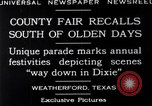 Image of County Fair Weatherford Texas USA, 1929, second 6 stock footage video 65675041391