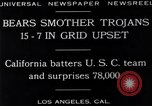 Image of football match Los Angeles California USA, 1929, second 10 stock footage video 65675041392