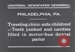 Image of dental parlor Philadelphia Pennsylvania USA, 1931, second 2 stock footage video 65675041398