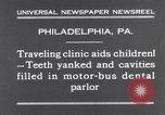 Image of dental parlor Philadelphia Pennsylvania USA, 1931, second 3 stock footage video 65675041398