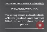 Image of dental parlor Philadelphia Pennsylvania USA, 1931, second 7 stock footage video 65675041398