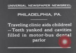 Image of dental parlor Philadelphia Pennsylvania USA, 1931, second 8 stock footage video 65675041398