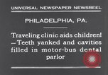 Image of dental parlor Philadelphia Pennsylvania USA, 1931, second 9 stock footage video 65675041398