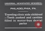Image of dental parlor Philadelphia Pennsylvania USA, 1931, second 10 stock footage video 65675041398