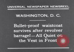 Image of bulletproof vest Washington DC USA, 1931, second 2 stock footage video 65675041399