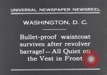 Image of bulletproof vest Washington DC USA, 1931, second 3 stock footage video 65675041399
