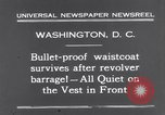 Image of bulletproof vest Washington DC USA, 1931, second 4 stock footage video 65675041399