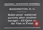 Image of bulletproof vest Washington DC USA, 1931, second 5 stock footage video 65675041399