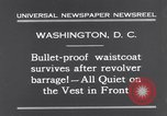 Image of bulletproof vest Washington DC USA, 1931, second 6 stock footage video 65675041399