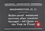 Image of bulletproof vest Washington DC USA, 1931, second 7 stock footage video 65675041399