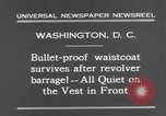 Image of bulletproof vest Washington DC USA, 1931, second 8 stock footage video 65675041399