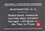 Image of bulletproof vest Washington DC USA, 1931, second 9 stock footage video 65675041399