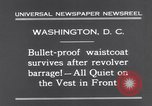 Image of bulletproof vest Washington DC USA, 1931, second 10 stock footage video 65675041399