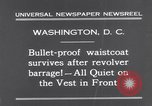 Image of bulletproof vest Washington DC USA, 1931, second 11 stock footage video 65675041399