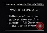 Image of bulletproof vest Washington DC USA, 1931, second 12 stock footage video 65675041399