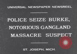 Image of Gangster Fred Burke captured by police Saint Joseph Michigan USA, 1931, second 2 stock footage video 65675041400