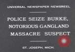 Image of Gangster Fred Burke captured by police Saint Joseph Michigan USA, 1931, second 4 stock footage video 65675041400