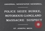 Image of Gangster Fred Burke captured by police Saint Joseph Michigan USA, 1931, second 6 stock footage video 65675041400