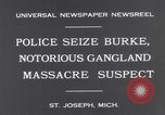 Image of Gangster Fred Burke captured by police Saint Joseph Michigan USA, 1931, second 7 stock footage video 65675041400