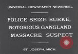 Image of Gangster Fred Burke captured by police Saint Joseph Michigan USA, 1931, second 8 stock footage video 65675041400