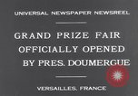 Image of President Doumergue Versailles France, 1931, second 9 stock footage video 65675041401