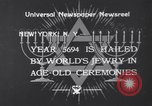 Image of New York Jews observe Rosh Hashanah in 1933 New York City USA, 1933, second 4 stock footage video 65675041403