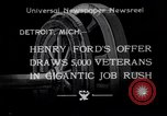 Image of unemployed veteran soldiers Detroit Michigan USA, 1933, second 1 stock footage video 65675041405