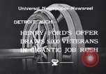 Image of unemployed veteran soldiers Detroit Michigan USA, 1933, second 4 stock footage video 65675041405