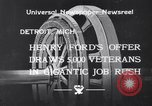 Image of unemployed veteran soldiers Detroit Michigan USA, 1933, second 5 stock footage video 65675041405