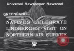 Image of Charles Lindbergh Greenland, 1933, second 2 stock footage video 65675041409