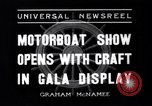 Image of Motor Boat Show New York City USA, 1937, second 2 stock footage video 65675041418