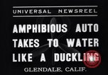 Image of amphibian automobile Glendale California USA, 1937, second 5 stock footage video 65675041422