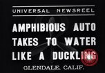 Image of amphibian automobile Glendale California USA, 1937, second 6 stock footage video 65675041422