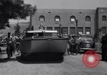 Image of amphibian automobile Glendale California USA, 1937, second 10 stock footage video 65675041422
