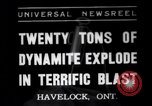Image of dynamite Havelock Ontario Canada, 1937, second 1 stock footage video 65675041428