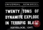 Image of dynamite Havelock Ontario Canada, 1937, second 4 stock footage video 65675041428