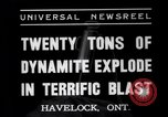 Image of dynamite Havelock Ontario Canada, 1937, second 9 stock footage video 65675041428
