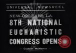 Image of Cardinal Mundelein New Orleans Louisiana USA, 1938, second 2 stock footage video 65675041429
