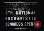 Image of Cardinal Mundelein New Orleans Louisiana USA, 1938, second 5 stock footage video 65675041429