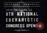 Image of Cardinal Mundelein New Orleans Louisiana USA, 1938, second 6 stock footage video 65675041429