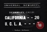 Image of Football Match Berkeley California USA, 1938, second 2 stock footage video 65675041437