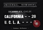 Image of Football Match Berkeley California USA, 1938, second 4 stock footage video 65675041437