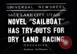 Image of amphibious sailboat Salt Lake City Utah USA, 1938, second 1 stock footage video 65675041439
