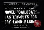 Image of amphibious sailboat Salt Lake City Utah USA, 1938, second 3 stock footage video 65675041439